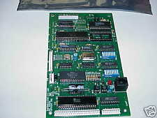 TWO EACH CIRCUIT BOARDS WITH SOCKETED  6502, 6522, G65SC51P VINTAGE ICS