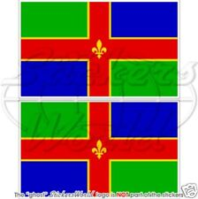 LINCOLNSHIRE County Lincoln England Flag 100mm Vinyl Bumper Stickers Decals x2