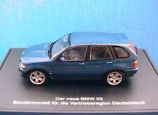 BMW X5 4.4 I 1999 BLEU METAL MINICHAMPS 1/43 BLUE SONDERMODELL DEUTSCHLAND