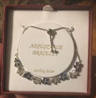 Rachel Zoe Los Angeles~New York Cross Adjustable Sterling Silver Bracelet
