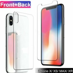 HD 9H Tempered Glass Front+Back+Lens Film Protector for iPhone 11 Pro Max X XS 8