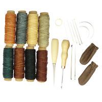 22 Stück Leder Craft Professional Leder Nähset DIY Handstichwerkzeuge