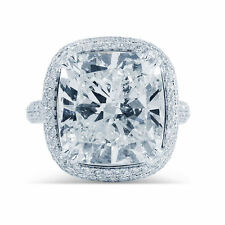 7.00ct Cushion Cut Cocktail Diamond Ring 14K Solid White Gold Anniversary Ring