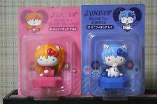 Hello Kitty & Evangelion Rei & Asuka Mini Figures Sanrio from Japan