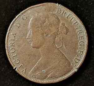 1861 Great Britain Half Penny Queen Victoria Old Coin