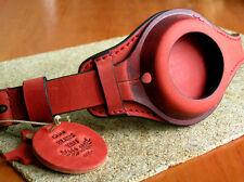 WW1 MILITARY POCKET WATCH STRAP GENUINE LEATHER WRIST BAND RED CASE 48-54mm