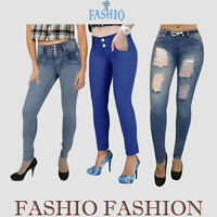Women's Ladies Skinny Stretch Denim Jeans