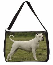 American Staffordshire Bull Terrier Dog Large Black Laptop Shoulder B, AD-SBT9SB