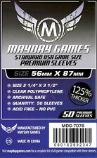 Mayday Games Stand. USA Dk. Purple label Card Sleeves(56mm X 87mm)125% (50) 7076