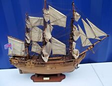 BOUNTY 1787  Wooden Ship On Stand Well Detailed Nautical Model