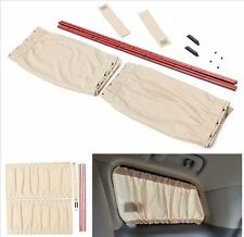 Beige Adjustable VIP Car SUV Window Windscreen Mesh Style Curtain Sunshade Visor
