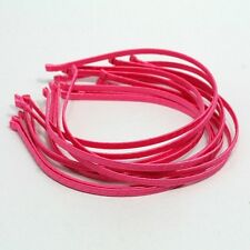 Wholesale LOTS HEADBANDS 12 METAL HAIRBAND 5mm HOT PINK