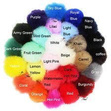 "Pack of 6 DIY 3.15"" Faux Rabbit Fur Pom pom Ball for Beanie Hat Keychain"