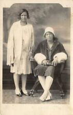 RPPC Black Americana Women Flapper Barnard's Studio Chicago 1920s Photo Postcard
