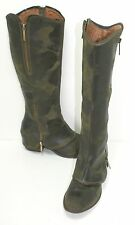 $400 Donald J Pliner 'Devi 3' Boot Olive Camo Leather Size 6 M