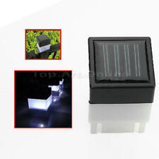 Solar Power Fence Post Cap Garden Yard LED Square Light White 50mm x 50mm Hot