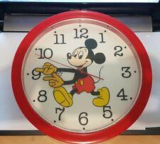 Lorus Quartz Wall Clock - Disney Mickey Mouse - Japan - Vintage - Red