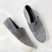 Vince Leather Platform Knit Slip On Sneakers Size 10 Casual Streetwear