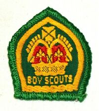 All Yellow Crown Boy Scouts KING'S SCOUT Award ribbon, bound Troop  New Like
