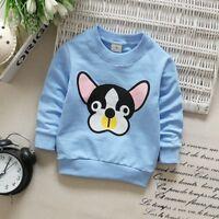 Toddler Kids Baby Boys Girls Long Sleeve Dog Printed T-shirt Tops Blouse 1-3T