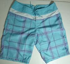 *NWT* THE NORTH FACE WOMENS TEENS LIGHT BLUE PLAID SHORTS SIZE 6 D136 BB