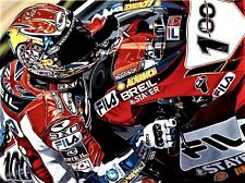 Neil Hodgson 90x70 cms limited edition Superbike art print by Colin Carter