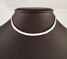 NEW 925 SOLID STERLING SILVER 4mm CHOKER COLLAR NECKLACE. HAND CRAFTED.