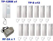 Commax 12 Stations Intercom System: TP-12RM x 1 / TP-S x 12/ RF-2A x 1