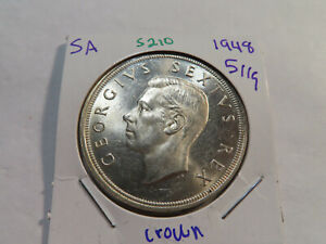 S210 South Africa 1948 5 Shilling Crown