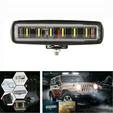 7 Inch 90W Spot Beams Slim LED Work Light Bar Single Row Car SUV Off Road Lamp