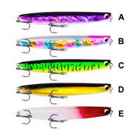 Lot 5x Popper Fishing Lures Baits Topwater Bass Crankbait Plastic Poper Tackle