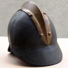 FEUERWEHR HELM BAYERN um 1920 Antik Original Messing Kamm Leder  BAYRISCH NORMAL