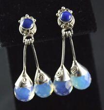 Sajen Blue Lapis Opalite Post Earrings Sterling Silver .925