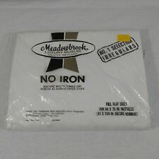 VINTAGE MEADOWBROOK FULL FLAT SHEET BEDDING RETRO 70-80s NIP MADE IN USA