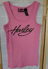 Harley Davidson tank top Womens small pink ribbed 3A