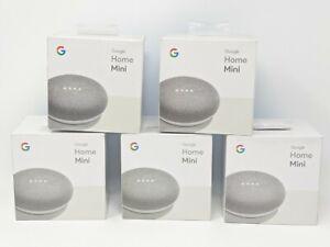 Google Home Mini Grey First Generation GA00210-US Lot of 5 NEW