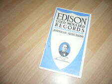 CATALOGUE PHONO cylindres edison gold moulded record 1907 original