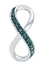 .10ct Blue Diamond Infinity Pendant