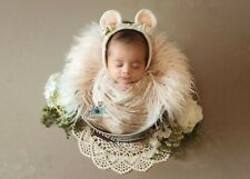 photo shoot props.for newbornHandmade.wool white mouse ears.free shipping