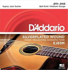 D'Addario EJ83M Gypsy Jazz Ball End Medium 11-45 Acoustic Guitar Strings