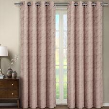 Tabitha Blush Grommet Jacquard Window Curtain Panel 54 x 96 inches