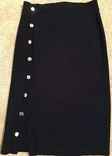 New W/Tags! Women's Altuzarra Navy Blue Rib Knit Straight Skirt Size XL