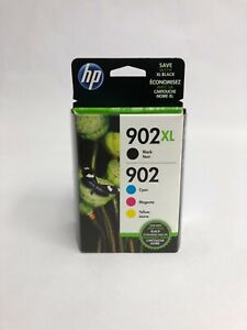 HP 902XL Black - 902 Cyan Magenta Yellow Ink Cartridges T0A39AN (exp May 2020)