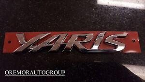 2016 iA 2017 - 2018 Yaris iA Rear Trunk Emblem 75442-WB002 GENUINE OEM