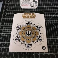 STAR WARS COLORING BOOK THE ART OF COLORING LOOT CRATE WITH 6 COLORING PENCILS