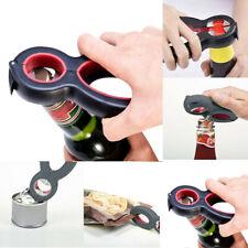 Portable Multi-Tool 6 in 1 Bottle Opener Stainless Steel Push Down Beer Openers