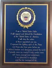 NAVY SAILOR GIFT - US NAVY SAILOR'S CREED PLAQUE - Can be Personalized