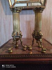 Paire de Bougeoirs en Bronze à décor de Têtes de Lions & Pieds Griffes