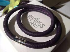 Endless Jewelry Genuine Leather Bracelet Purple 36cm 12106-36