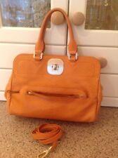 LONGCHAMP Arancione Leather Limited Edition Borsa con cinghia lunga segni di usura